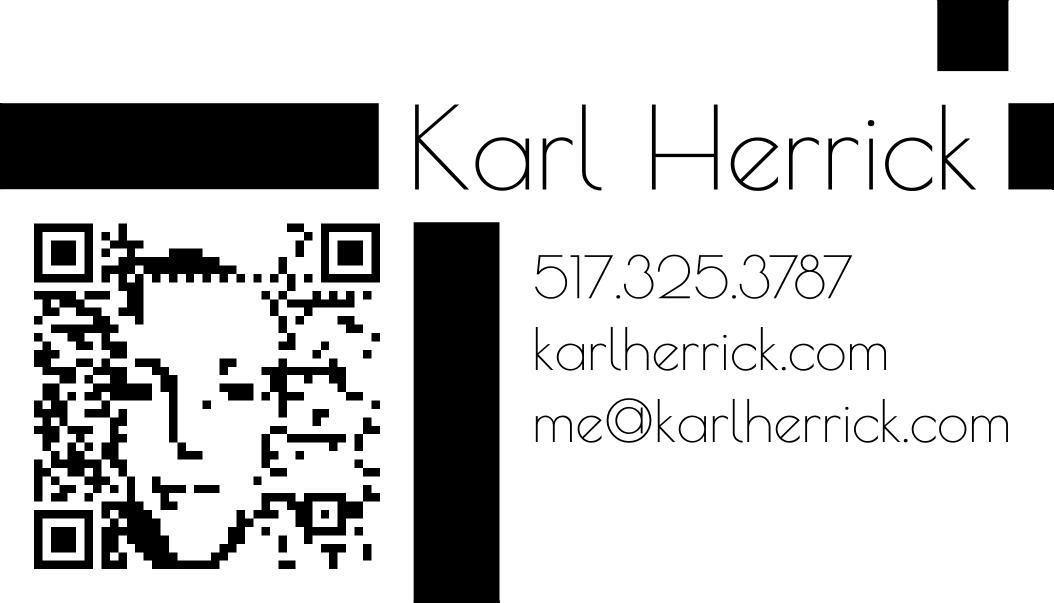 QR Code Business Card Design #1