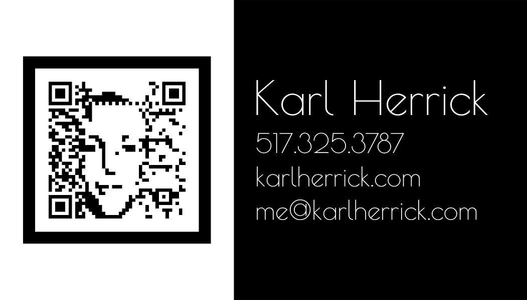 QR Code Business Card Design #3