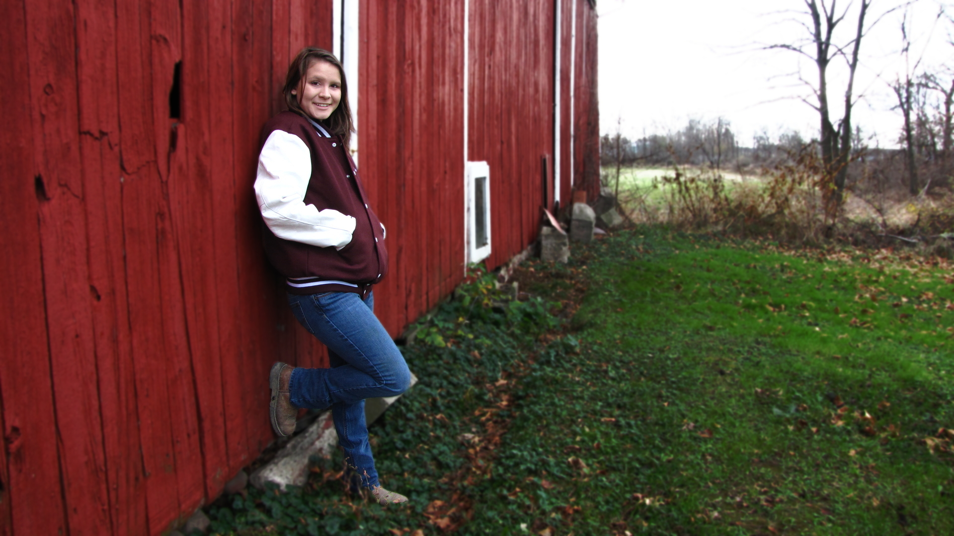 Leaning on the Red Barn