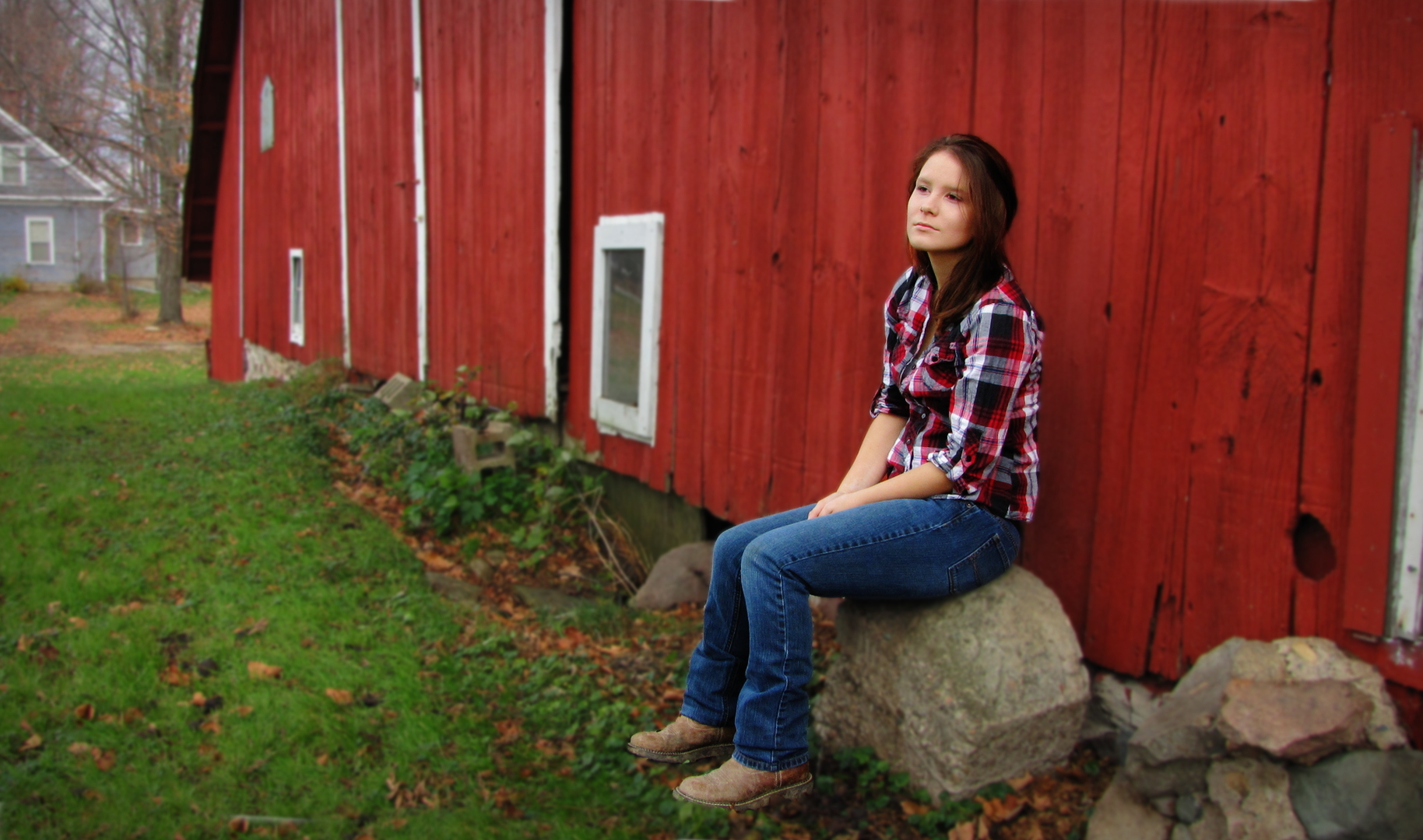 Sitting by the Red Barn