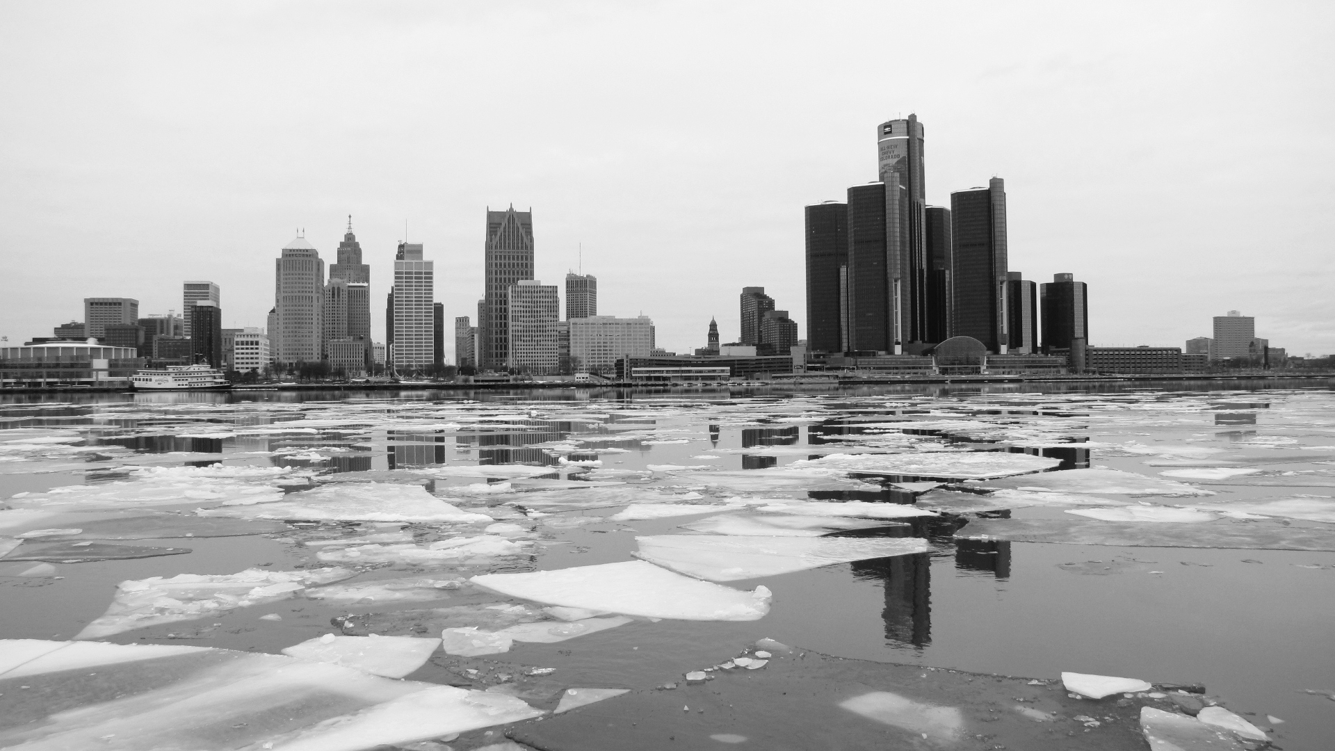 Icy Detroit River