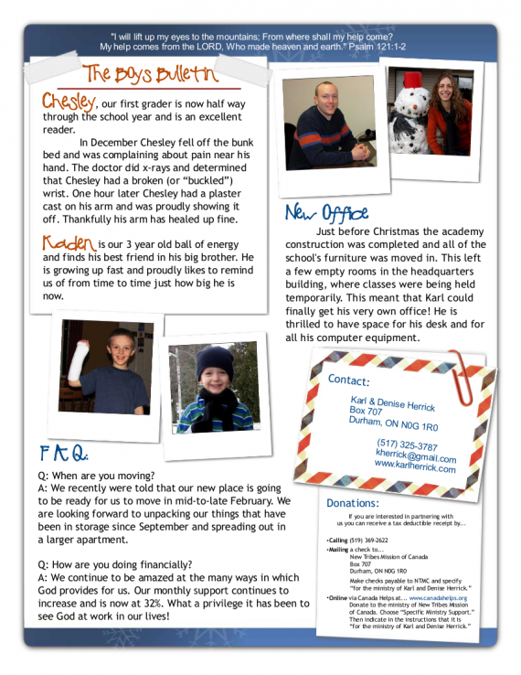 Newsletter Pg 1- Jan 2010